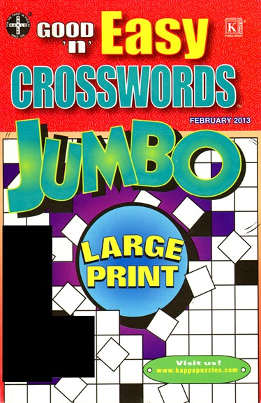 Good N Easy Crosswords Jumbo Cover - 2/1/2013