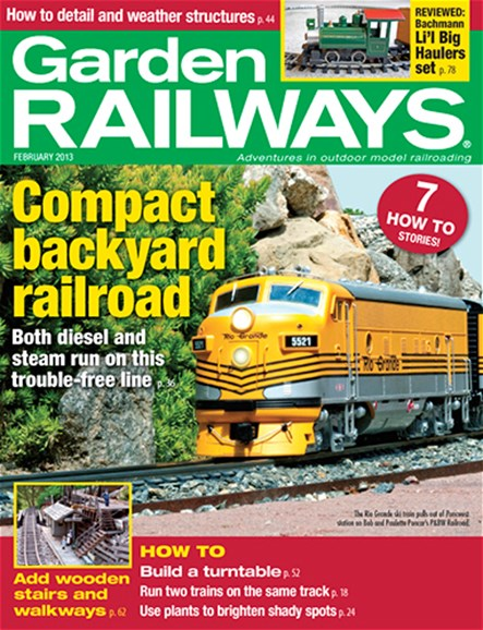 Garden Railways Cover - 2/1/2013