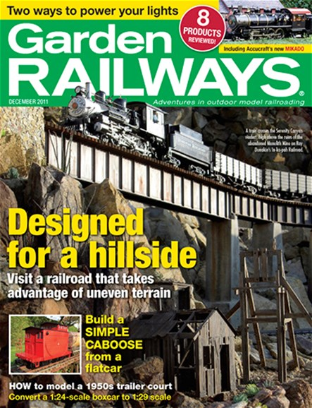 Garden Railways Cover - 12/1/2011