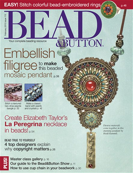 Bead & Button Cover - 2/1/2013