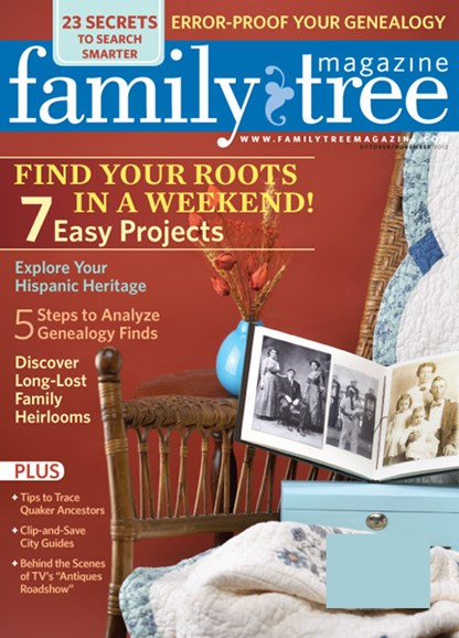 Family Tree Cover - 10/1/2012