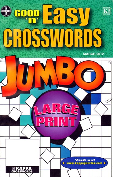 Good N Easy Crosswords Jumbo Cover - 3/1/2012