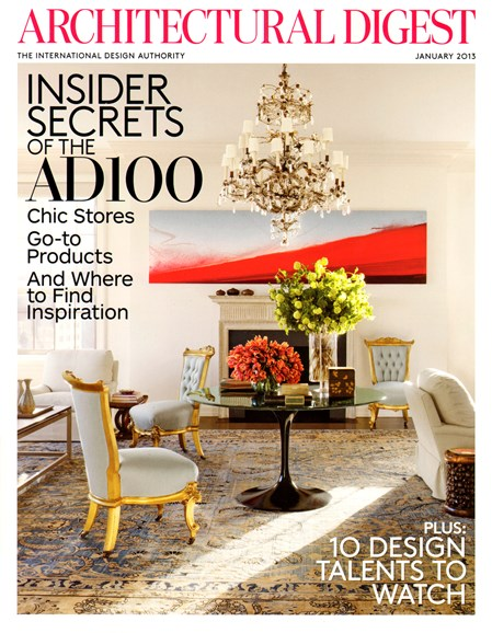 Architectural Digest Cover - 1/1/2013