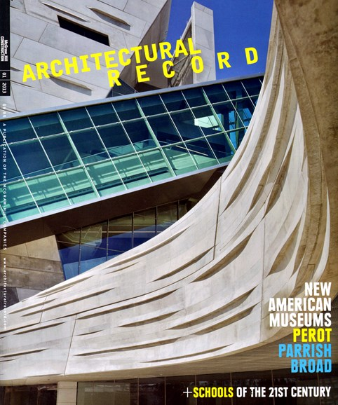 Architectural Record Cover - 1/1/2013