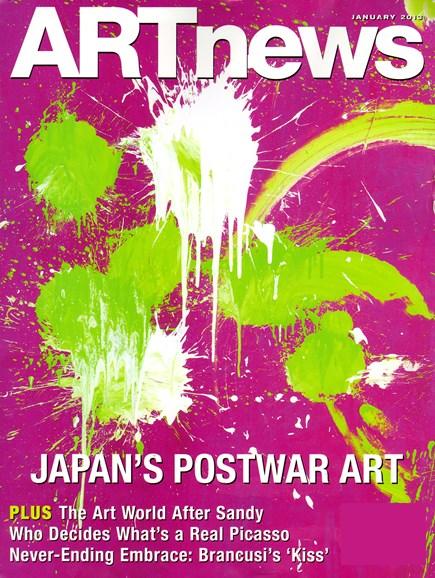 ARTnews Cover - 1/1/2013