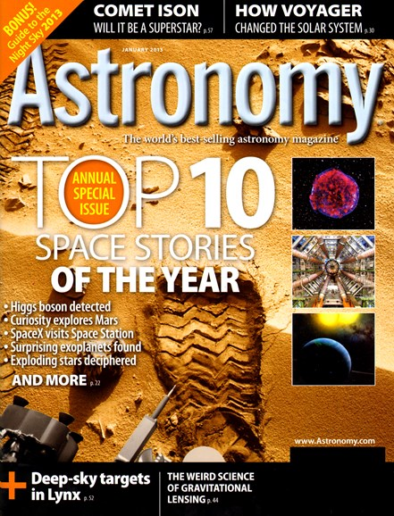 Astronomy Cover - 1/1/2013