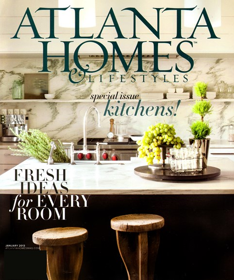 Atlanta Homes & Lifestyles Cover - 1/1/2013