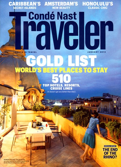 Condé Nast Traveler Cover - 1/1/2013
