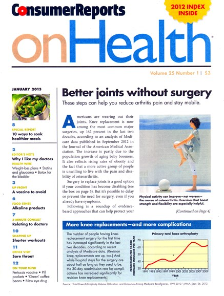 Consumer Reports On Health Cover - 1/1/2013