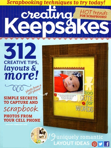 Creating Keepsakes Cover - 1/1/2013