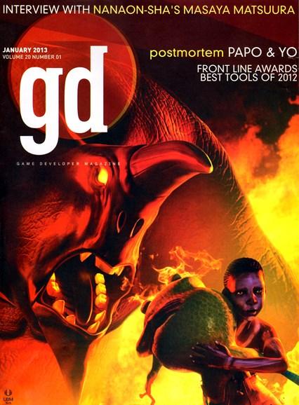 Game Developer Cover - 1/1/2013