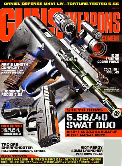 Guns & Weapons For Law Enforcement Cover - 1/1/2013