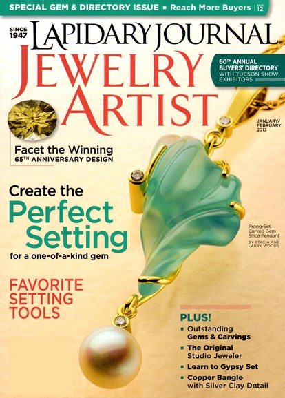 Lapidary Journal Jewelry Artist Cover - 1/1/2013