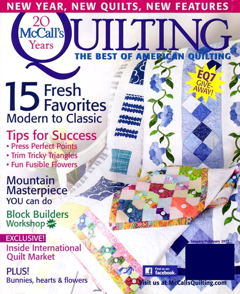 McCall's Quilting Cover - 1/1/2013