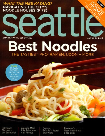 Seattle Magazine Cover - 1/1/2013