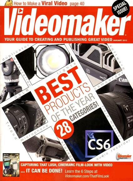 Videomaker Cover - 1/1/2013