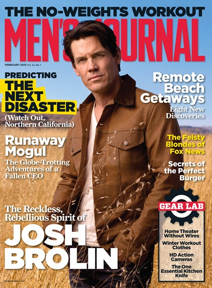 Men's Journal Cover - 2/1/2013