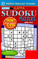 Blue Ribbon Kappa Sudoku Puzzles Magazine 4/1/2013
