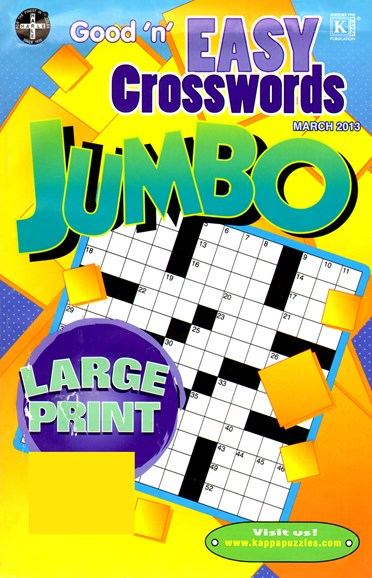 Good N Easy Crosswords Jumbo Cover - 3/1/2013