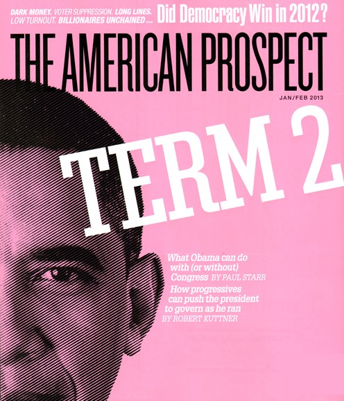 The American Prospect Cover - 1/1/2013