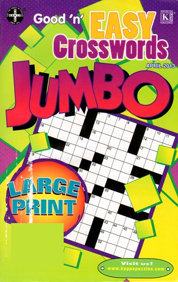 Good N Easy Crosswords Jumbo Cover - 4/1/2013