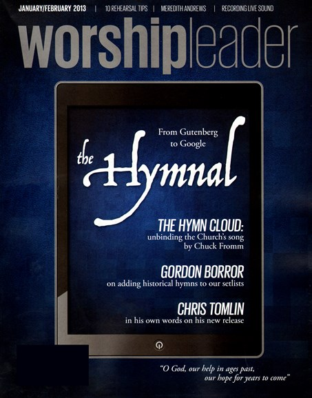 Worship Leader Magazine Cover - 1/1/2013