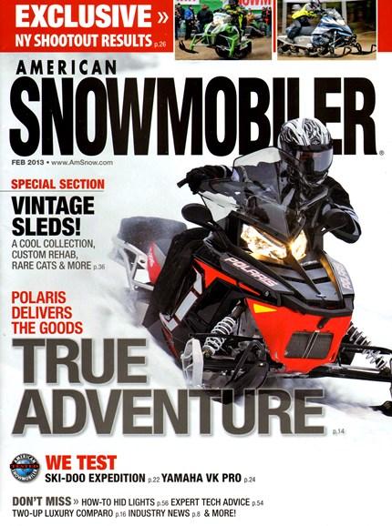 American Snowmobiler Cover - 2/1/2013