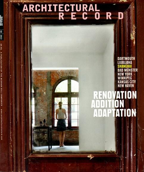 Architectural Record Cover - 2/1/2013