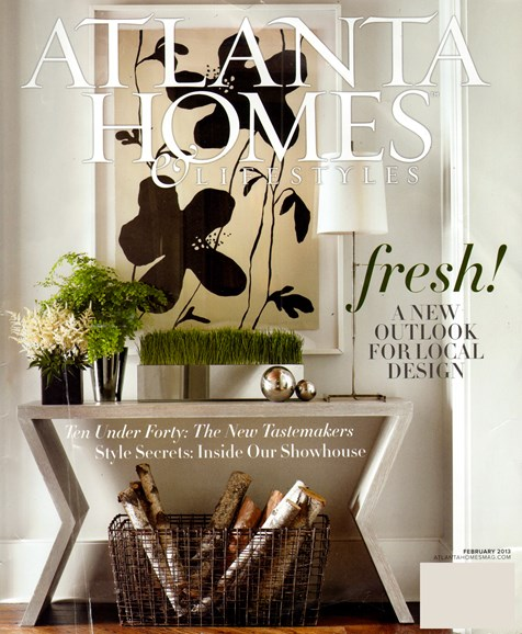 Atlanta Homes & Lifestyles Cover - 2/1/2013