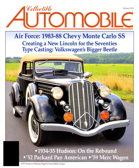 Collectible Automobile Cover - 2/1/2013