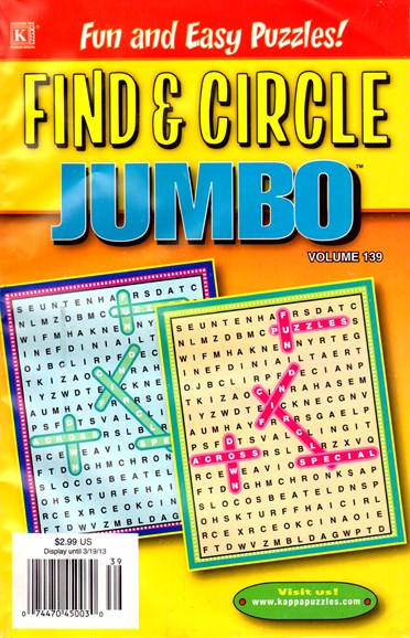 Find & Circle Jumbo Cover - 1/1/2013