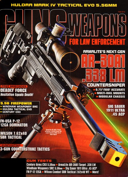 Guns & Weapons For Law Enforcement Cover - 2/1/2013