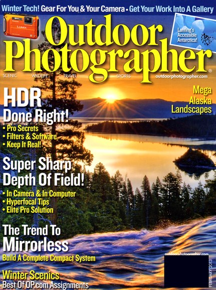 Outdoor Photographer Cover - 2/1/2013