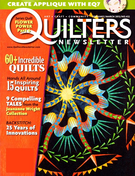 Quilter's Newsletter Cover - 2/1/2013