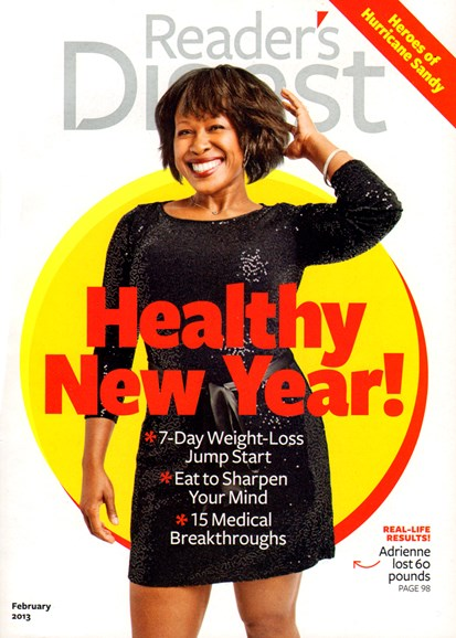Reader's Digest Cover - 2/1/2013