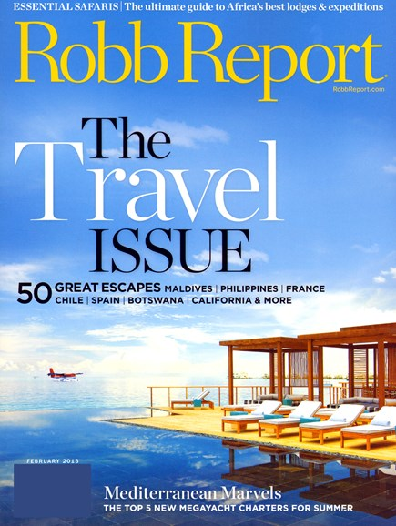 Robb Report Cover - 2/14/2013
