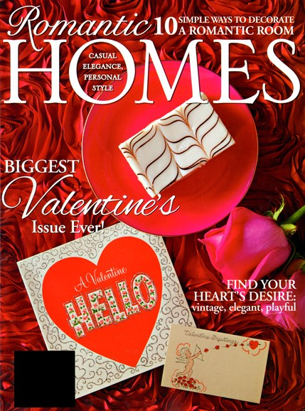Romantic Homes Cover - 2/1/2013