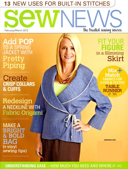 Sew News Cover - 2/1/2013
