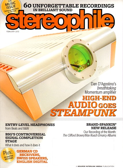 Stereophile Cover - 2/1/2013