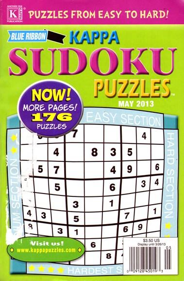 Blue Ribbon Kappa Sudoku Puzzles Cover - 5/1/2013