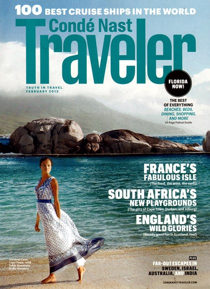 Condé Nast Traveler Cover - 2/1/2013