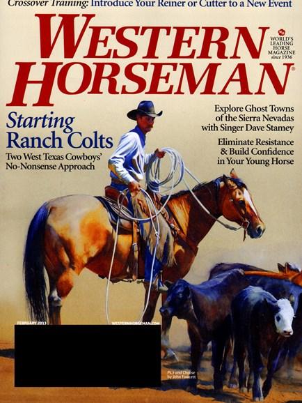 Western Horseman Cover - 2/1/2013