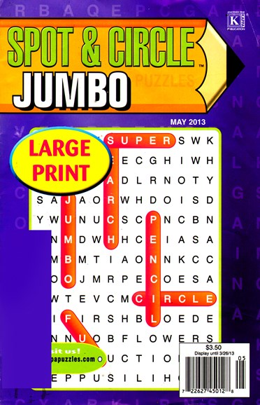 Spot & Circle Jumbo Cover - 5/1/2013