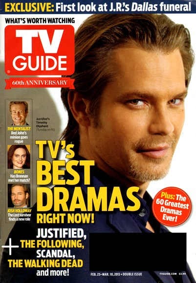 TV Guide Cover - 2/25/2013