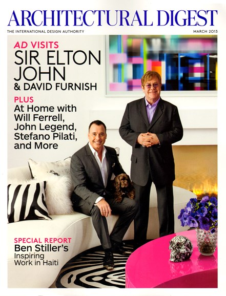 Architectural Digest Cover - 3/1/2013