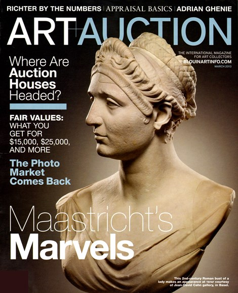 Blouin Art & Auction Cover - 3/1/2013