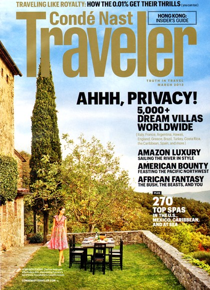 Condé Nast Traveler Cover - 3/1/2013