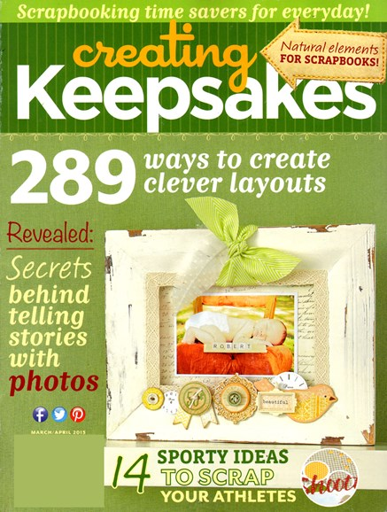 Creating Keepsakes Cover - 3/1/2013