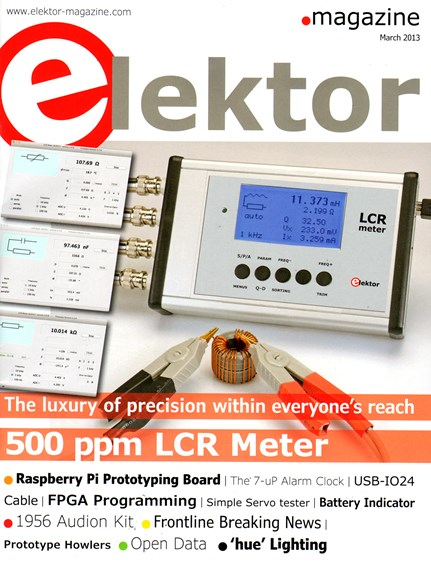Elektor - North American Edition Cover - 3/1/2013