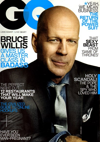 Gentlemen's Quarterly - GQ Cover - 3/1/2013